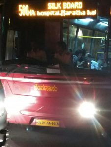 BMTC bus KA01FA1418 on route 500NA