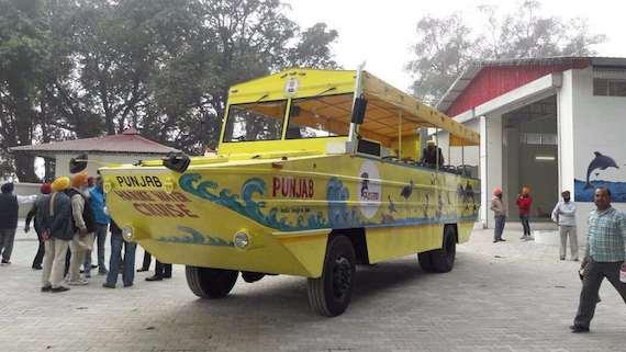 The Harike Water Bus. Image via Twitter.